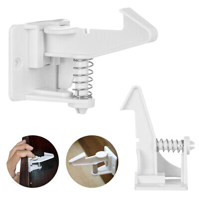 3/6Pcs Baby Proofing Lock Invisible Safety Child Proof Cabinet Drawer Latches