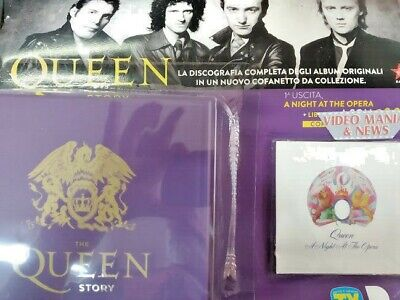 The Queen Story Collection 1° Cd A Night At The Opera+Box.sorrisi