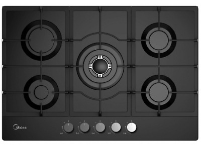 90CM Black or Stainless Steel Gas Cooktop NATRUAL GAS OR LPG - 2 year warranty