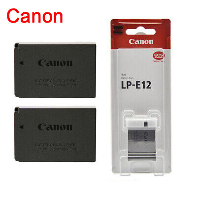 Genuine Original CANON LP-E12 Battery EOS M M2 M10 M50 100D Rebel SL1