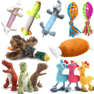 Pet Dog Puppy Chicken Squeaky Chew Toy Squeaker Soft Plush Play Sound Toys