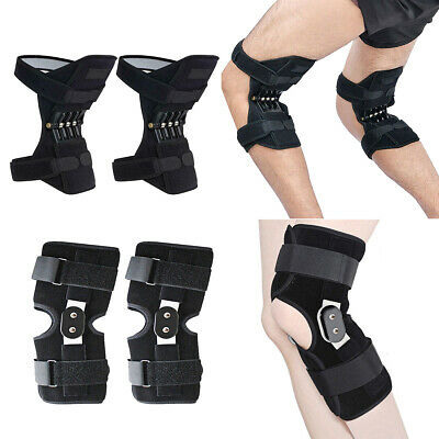 Patella Booster Spring Knee Brace Support Aluminium Double-Hinged Medical Straps