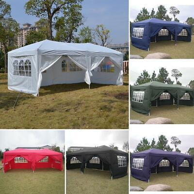 Carpa plegable jardín impermeable 3 x 6 m con panel lateral para,6 paredes