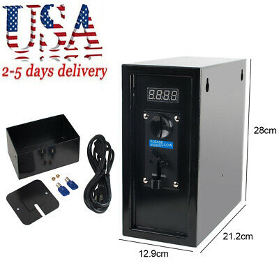 Coin Operated Timer Control Box Electronic Coin Selector Acceptor Relay Machine