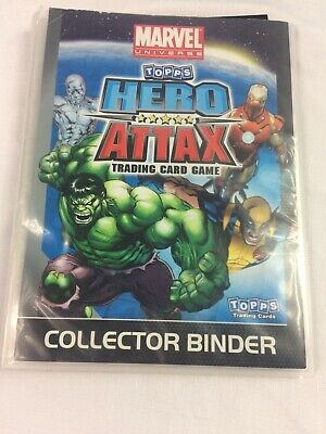 Topps Marvel Comics Hero Attax Trading Cards (Black 2011) 99 cards + Binder