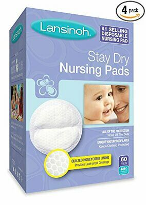 Lansinoh Nursing Pads Stay Dry 60 Each ( Pack of 4 )