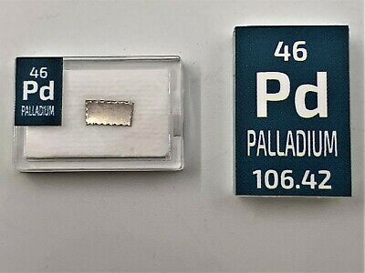 Palladium 99.9% Metal Ingot Element Sample Periodic Element Tile 1 gram 5 Grain