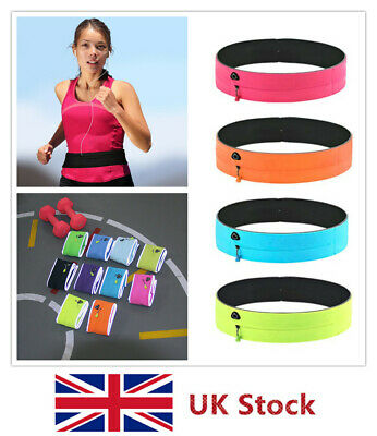 Fitness Walking Sport Waist Pack Running Belt Pouch for Phone Keys Cards Cash UK