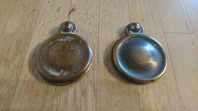 2 Solid Brass Key Hole Lock Escutcheons With Cover Plates Door Furniture Antique