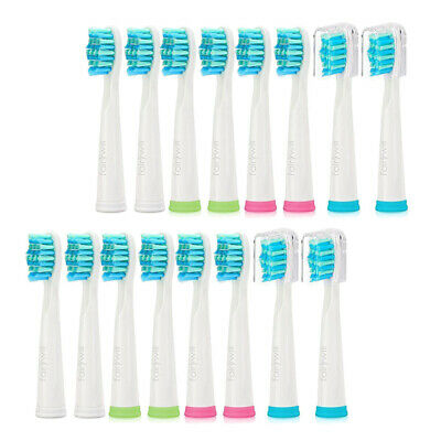 Fairywill 4 Set Sonic Electric Toothbrush Replacement Heads Whiten Teeth 16 Pcs