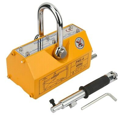 Portable Permanent Lifting Magnet 600KG Small Crane Magnetic Lifter Tool Durable