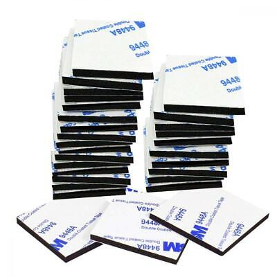 50 Pcs Double Sided Sticky Pads, 4 cm Strong Heavy Duty Adhesive Tape, Black