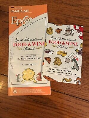 Disney EPCOT Food and Wine Festival 2019 Passport Guide and German Map Set