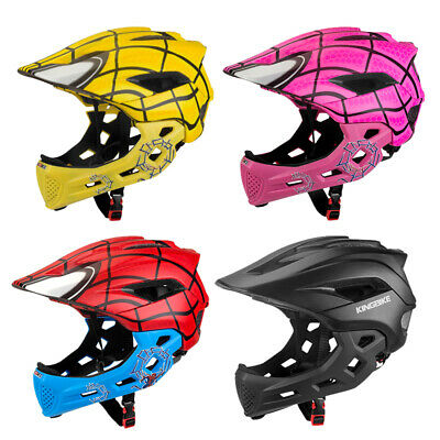 Child Helmet Kids Motorcycle Detachable Safety Full Face Helmet Adjustable Gear