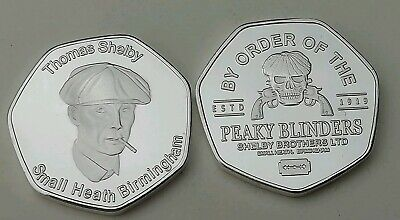 New Rare PEAKY BLINDERS THOMAS SHELBY Commerative Collectors Coin in Capsule 50p