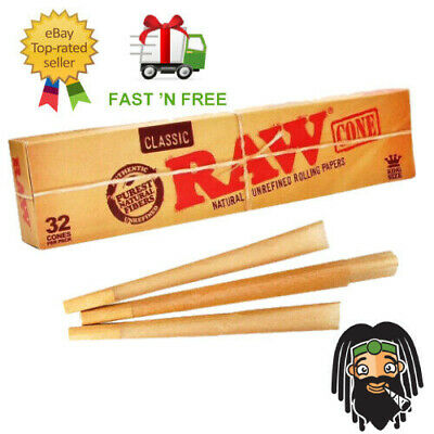 RAW Classic King Size Cones Mega Pack 32 Cones - Pre Rolled Rolling Papers