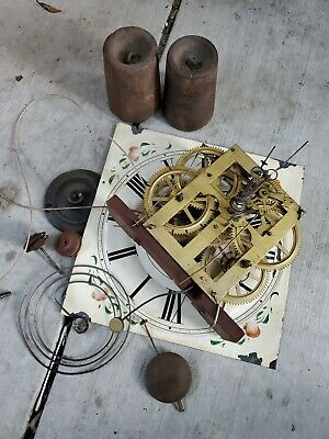 Antique Seth Thomas Weight Driven Clock Movement,Face weight pendulum  For Part