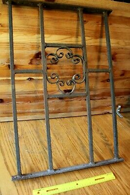Wrought Iron Gate Architectural Salvage Swirl Garden Art Fireplace Panel Vintage