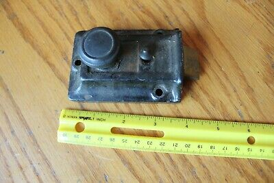 Cast Iron Door Rim Night Latch Vintage twist knob lock Antique salvage