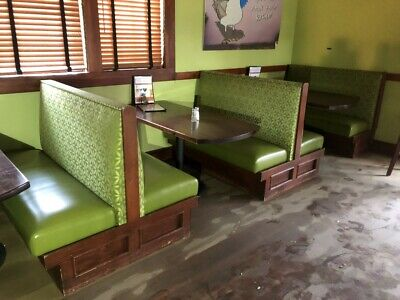 Commercial Grade Restaurant Seating Booths 20 Single Booths & 4 Doubles