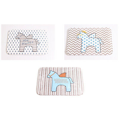 Anti-slip Rectangular Doormat Animal Pattern Floor Mat for Bathroom Home Room