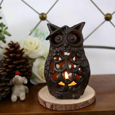 Candle Stick Iron Owl Classic Vintage Metal Home Decorator Gardening Accessories