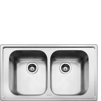 Smeg SP862 Sink Recessed Stainless Steel AISI304 Brushed 86 CM