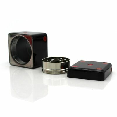 Personality Dice Shaped Herb Grinder 40MM Smoking Tobacco Zinc Alloy 2 Layers