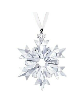 2018 Swarovski Crystal Snowflake Christmas Ornament~Annual edition~Collectible~