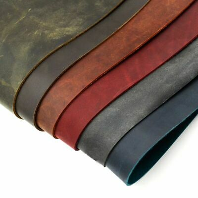 Horse Skin Natural Leather Thickness 2.0mm Vegetable Tanned Retro 6 Color