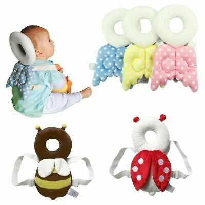 Newborn Head Back Drop Protection Pillow Cute Cartoon Wings Baby Cushion Pad