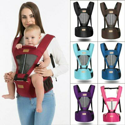 Newborn Infant Baby Carrier Ergonomic Wrap Backpack With Hip Seat Removable