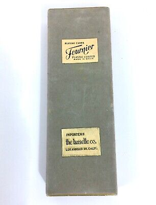 1960 Vintage Fournier plastic coated Playing cards Dual Deck #B30