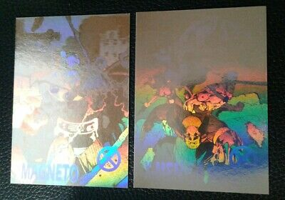 """1992 XMEN 2 Gold Holograms """"Magneto & X-Men"""". Cards in great condition."""