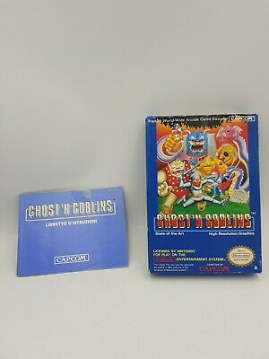 GHOST N GOBLINS CAPCOM Nintendo NES Boxed PAL - BOX AND MANUAL ONLY PAL A