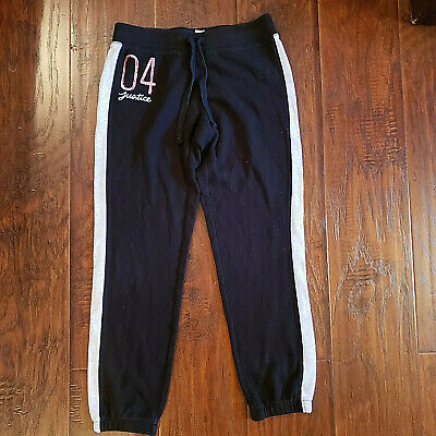 Justice Girls Activewear Pants Black Size 10   AG