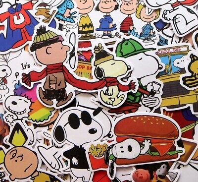 6 Mixed Snoopy Peanuts Movie cartoon Stickers Laptop stickers