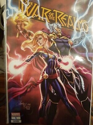 War Of The Realms 1 J Scott Campbell Fan Expo Variant Thor Capt Marvel