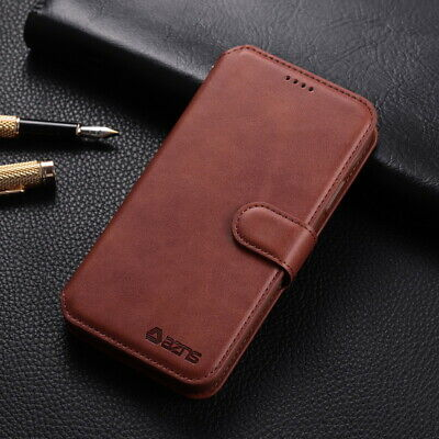 For iPhone 11 Pro Max XS XR X 8 7 6S Real Leather Case Wallet Flip Stand Cover