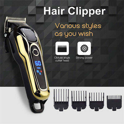 KEMEI LCD Cordless Men Electric Hair Clipper Shaver Trimmer Cutter Razor Groomer