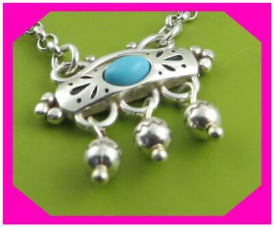 BRIGHTON PRAIRIE Turquoise Silver Lovely NECKLACE NWtag $54
