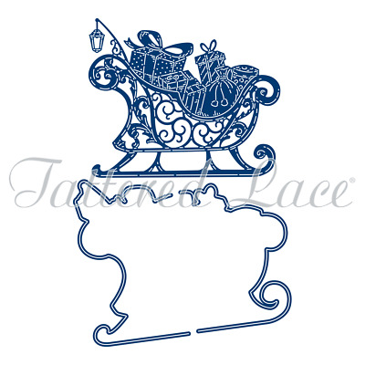 New Tattered Lace Large Unity Sleigh Santa Christmas Cutting Dies 477215