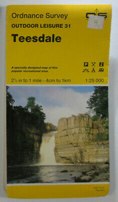 1987 Old Vintage OS Ordnance Survey 1:25000 Outdoor Leisure Map 31 Teesdale