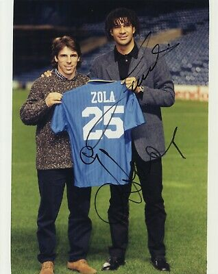 Chelsea F.C. - Gianfranco Zola & Ruud Gullit - In Person Signed Photograph.