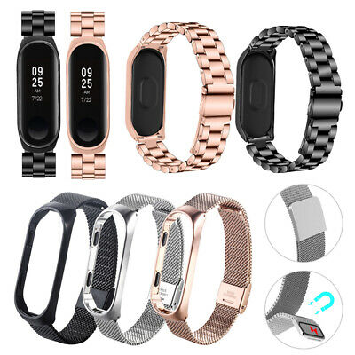 2019 Stainless Steel For Xiaomi Mi Band 4 Metal Wrist Bracelet Watch Band Strap