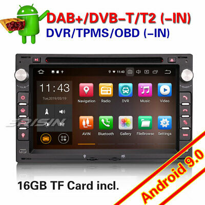 Autoradio Android 9.0 For VW PASSAT PEUGEOT GOLF MK4 T5 SEAT GPS BT DAB+OBD 4886