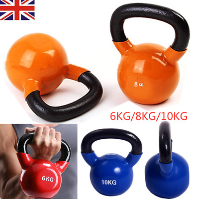 6/8/10 KG Cast Iron Kettlebells Weight Strength Training Kettlebell Exercise Gym