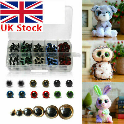 12mm 100pcs Color Plastic Safety Eyes For Teddy Bear Doll Animal Toy Making UK
