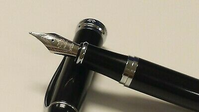 Jinhao X750 Marble black Fountain Pen medium Nib Chrome Trim