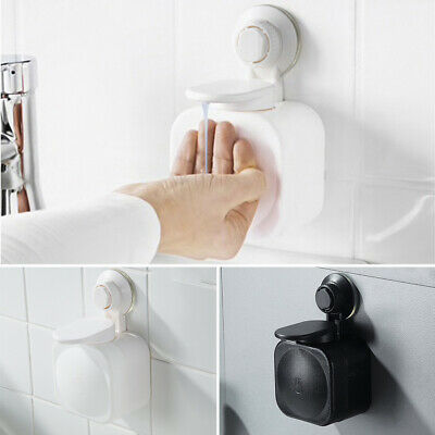 Suction Cup Wall Mount Bathroom Soap Dispenser Shower Lotion Liquid Hand Wash
